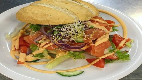 Italian roll with salmon