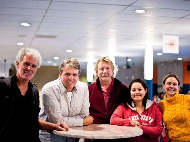 From left to right Menno Jon Frans Gaby Mascha